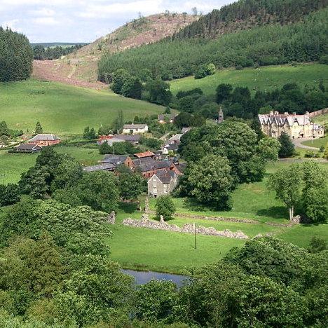 AbbeyCwmHir Village